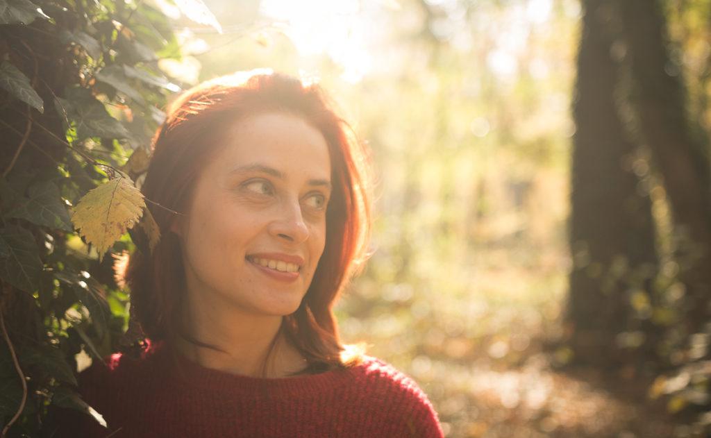 Fotografia w jesiennym słońcu